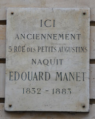 Photo of Edouard Manet grey plaque