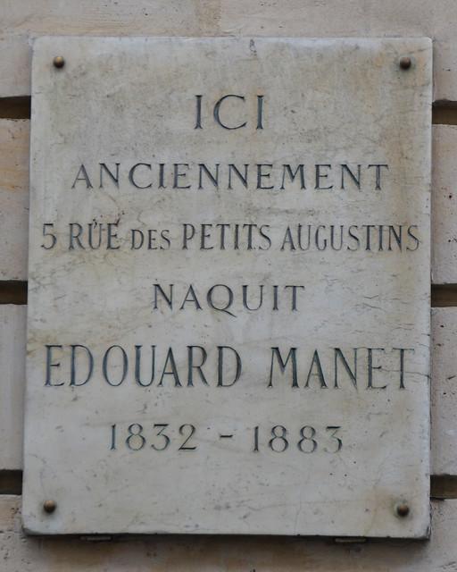 Edouard manet plaque 5 rue bonaparte paris 6 flickr photo sharing - Rue bonaparte paris 6 ...