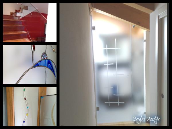 glasstyle serglas vetrate artistiche ... - Porte Vetro Decorate Scorrevoli