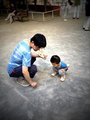 恵比寿公園にて (2012/8/26)