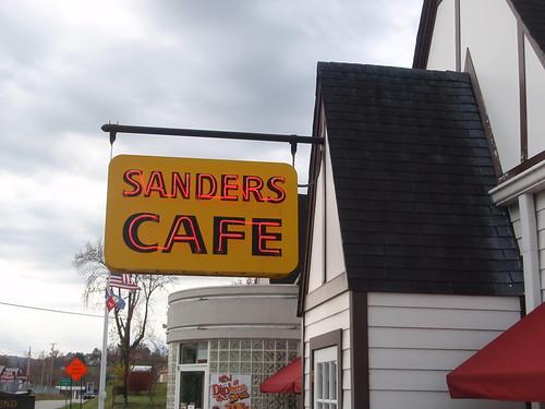 sanders cafe sign