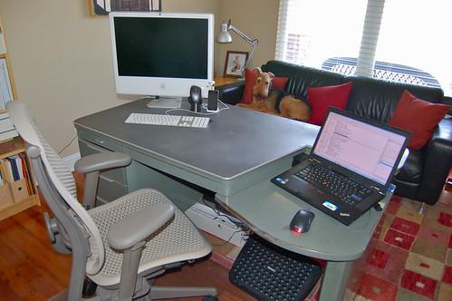 Metal Desk: Keyboard Shelf