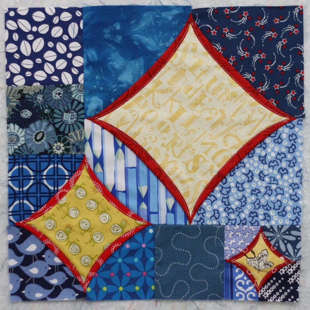 Cathedral Window Sampler block 3