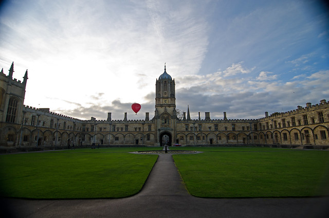 christ church oxford england united kingdom university virgin mobile hot air balloon