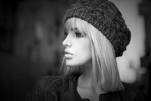 [フリー画像素材] 人物, 女性, 帽子, フランス人, モノクロ ID:201211141800