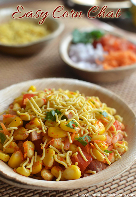 Easy Corn Chaat Recipe