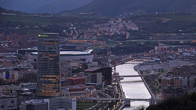 Bilbao NW desde el Mirador de Artxanda.
