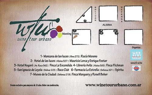 Wine tour urbano – Edición Otoño 2012