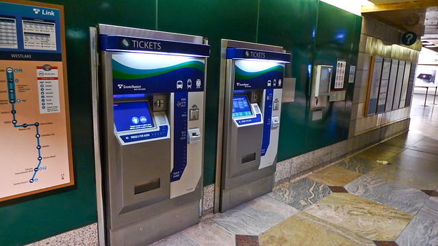 Sound Transit Ticket Station