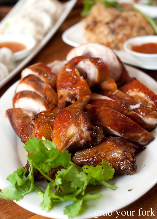 taiwanese smoked chicken at taipei chef, artarmon