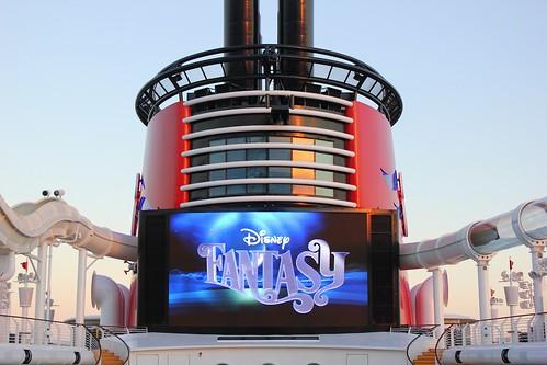 Disney Fantasy smoke stack
