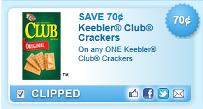 Keebler Club Crackers Coupon