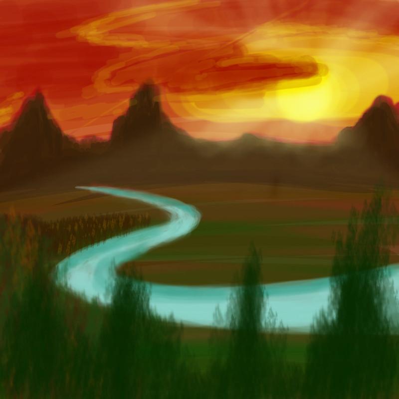 Landscape Digital Drawing