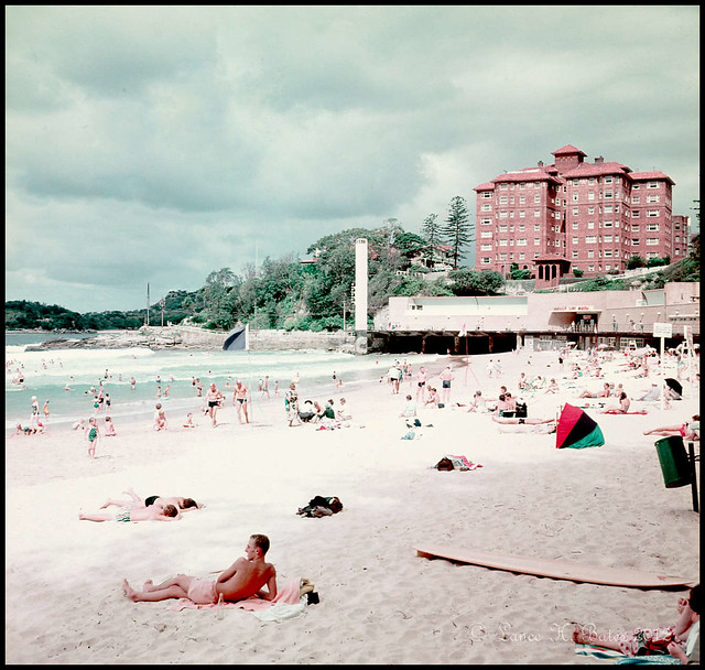 1959 Beach scene at Manly New South Wales