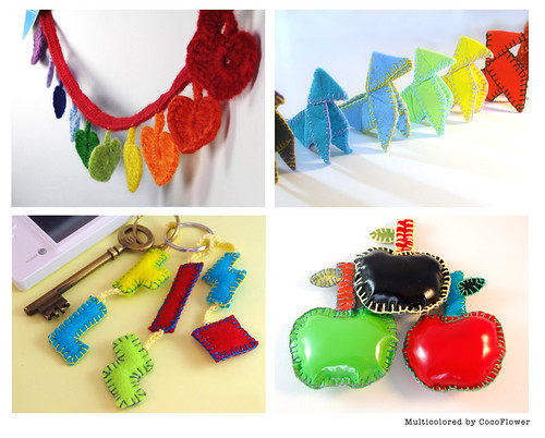 Rainbow craft selection. Arc en ciel créations by CocoFlower