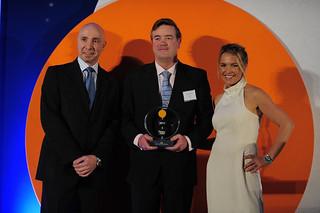 Andrés Sendagorta recoge el premio EBA.