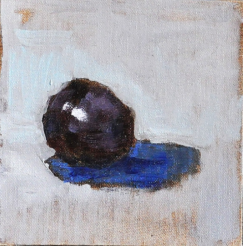 Plum Still Life Painting Original California Art by Kevin Inman