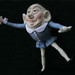 Humpty Dumpty-Balance by Textile Art/Needle Felting