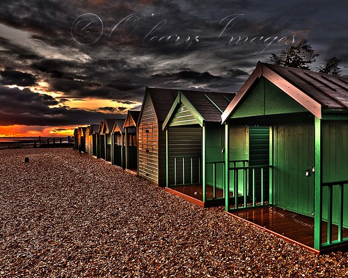 sunset beach unitedkingdom stones hampshire hut leeonsolent olearyimages rhysoleary