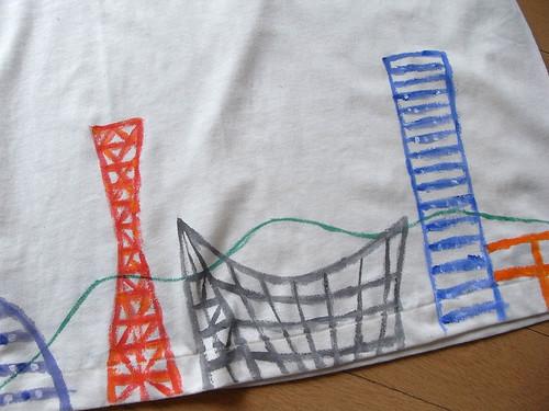 手描きTシャツ 神戸の風景4