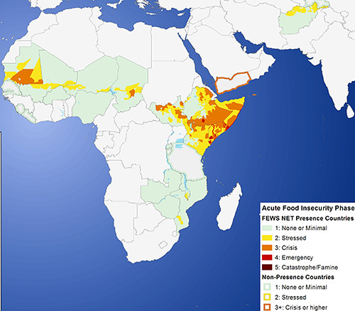 FEWS Net Estimated Food Security Conditions for Mar 2012