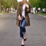 Leopard Coat -jeans- vintage accessories