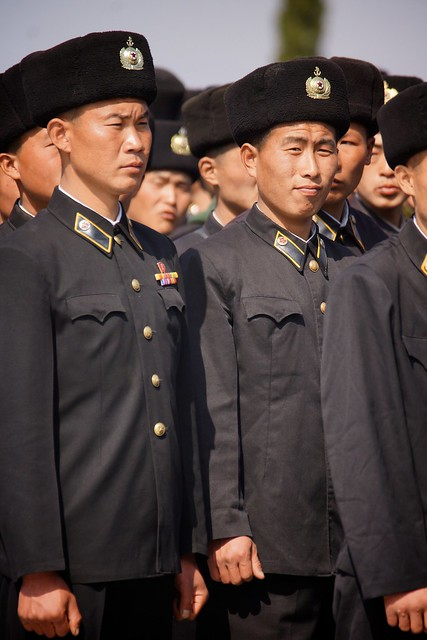 Sailors at the Pyongyang Revolutionary Martyrs Cemetery