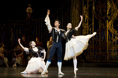 Iohna Loots, Kenta Kura and Emma Maguire in the pas de trios in Swan Lake, Act I