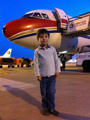 Scott with the China Eastern plane