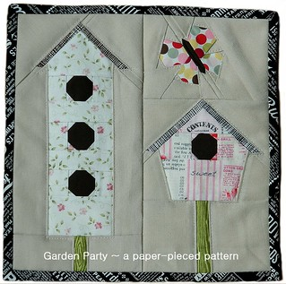 Paper Pieced Pattern-A-Day Garden Party Blog Hop - April 5