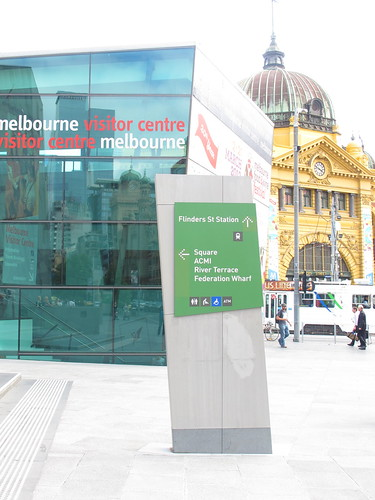 Federation Square, City Circle Tram, Melbourne Australia
