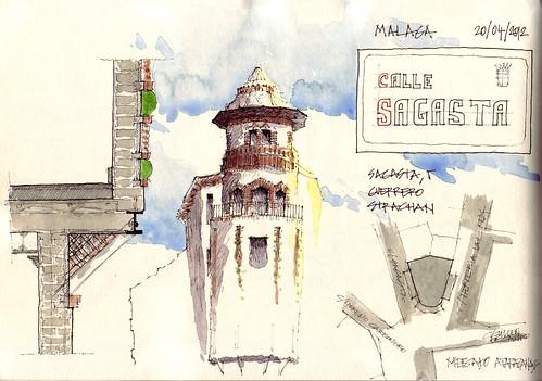 Malaga Sketchcrawl-Sagasta