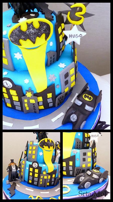 2 Batman cake