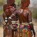Hamer People Celebrating Bull Jumping Ceremony, Omo Valley Ethiopia