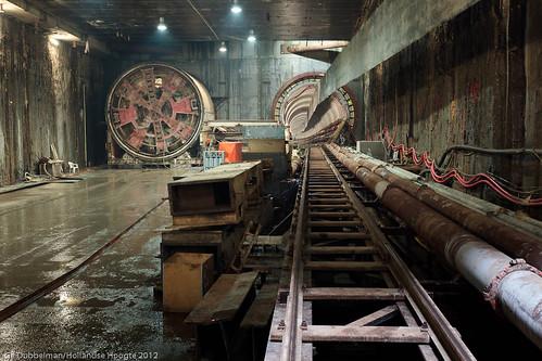 Tunnelboormachines Vijzelgracht 21 juni-12