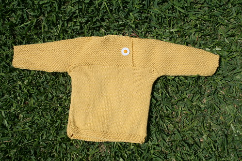 Yellow sweater for Ellie