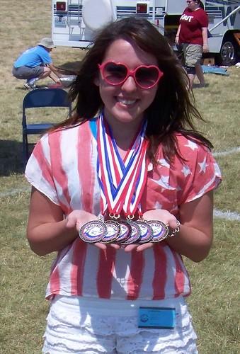 Emma Krystal and medals 2012