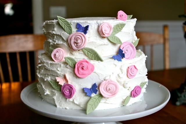 Rustic Flower Cake 001