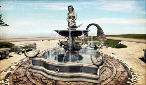 Black Rose Mermaid Fountain (Vivienne Daguerre), photographed by Gianna Borgnine