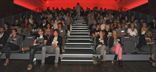 The TEDxAmsterdamLive crowd watching TEDGlobal 2012 at De Balie