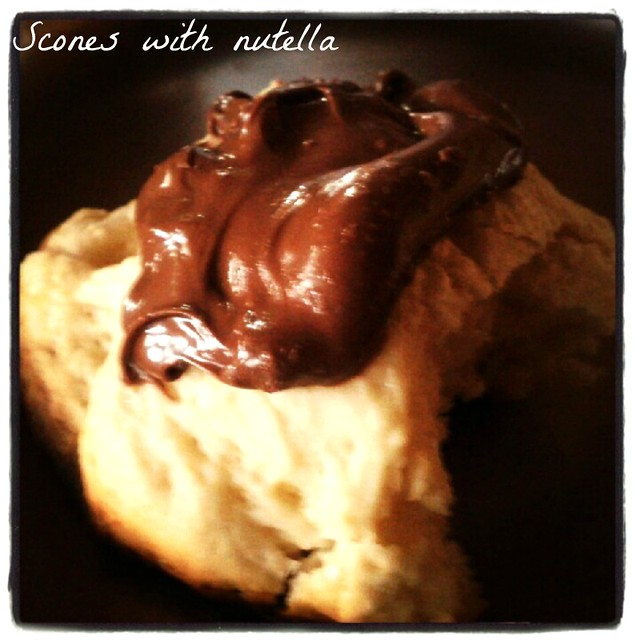 cream scones with nutella