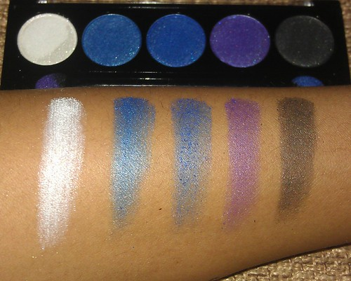 L.A. Colors 5 Metallic Eyeshadow Devious swatches