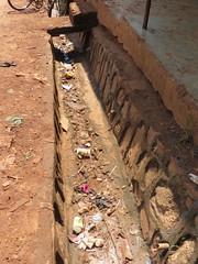 Trash in a Kampala drain