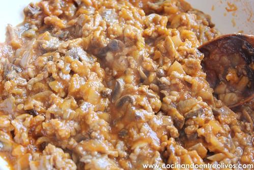 Berenjenas rellenas de carne picada y champiñones (13)