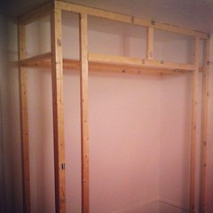 future closet in our bedroom! #thisoldhouse #diy #homeimprovement