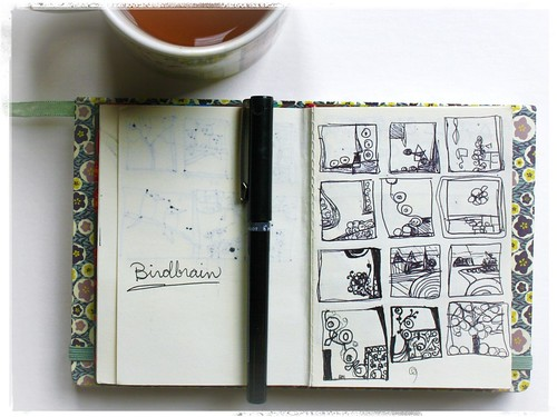 tea and sketchbook