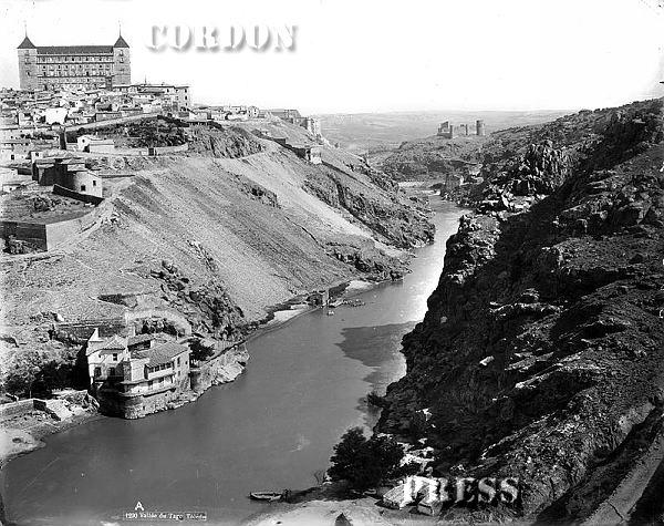 Torno del Tajo en Toledo hacia 1875-80. © Léon et Lévy / Cordon Press - Roger-Viollet