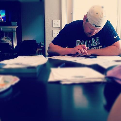 Trey is working on a bid