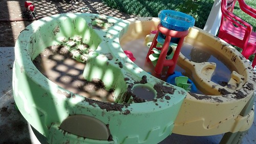 Really dirty sand and water table