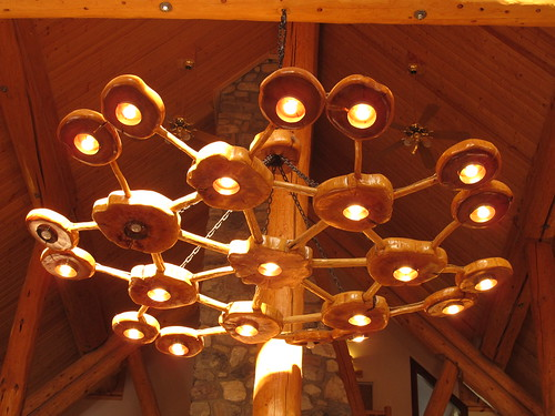 Northern Rockies Lodge, Muncho Lake - chandelier